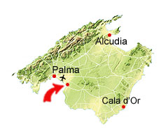Aqualand Mallorca kort