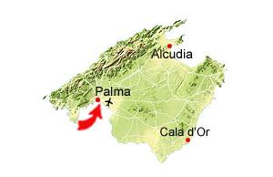 Palma de Mallorca kort